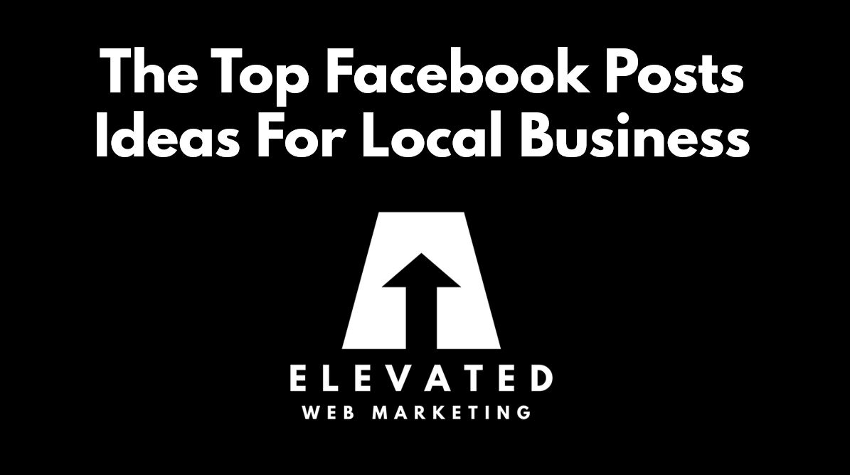 top facebook post ideas for local business featured image