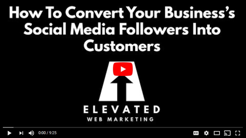convert your business's social media followers into customers