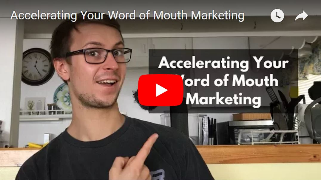 Accelerating your word of mouth marketing youtube thumbnail